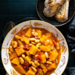 A bowl of butternut squash stew