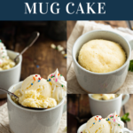 Mug cake with and without ice cream