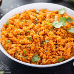 Bowl of Instant Pot Mexican rice.