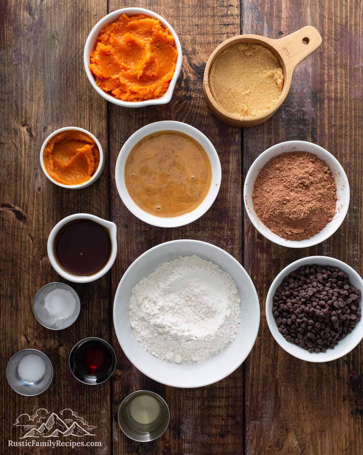 Vegan Brownie Ingredients