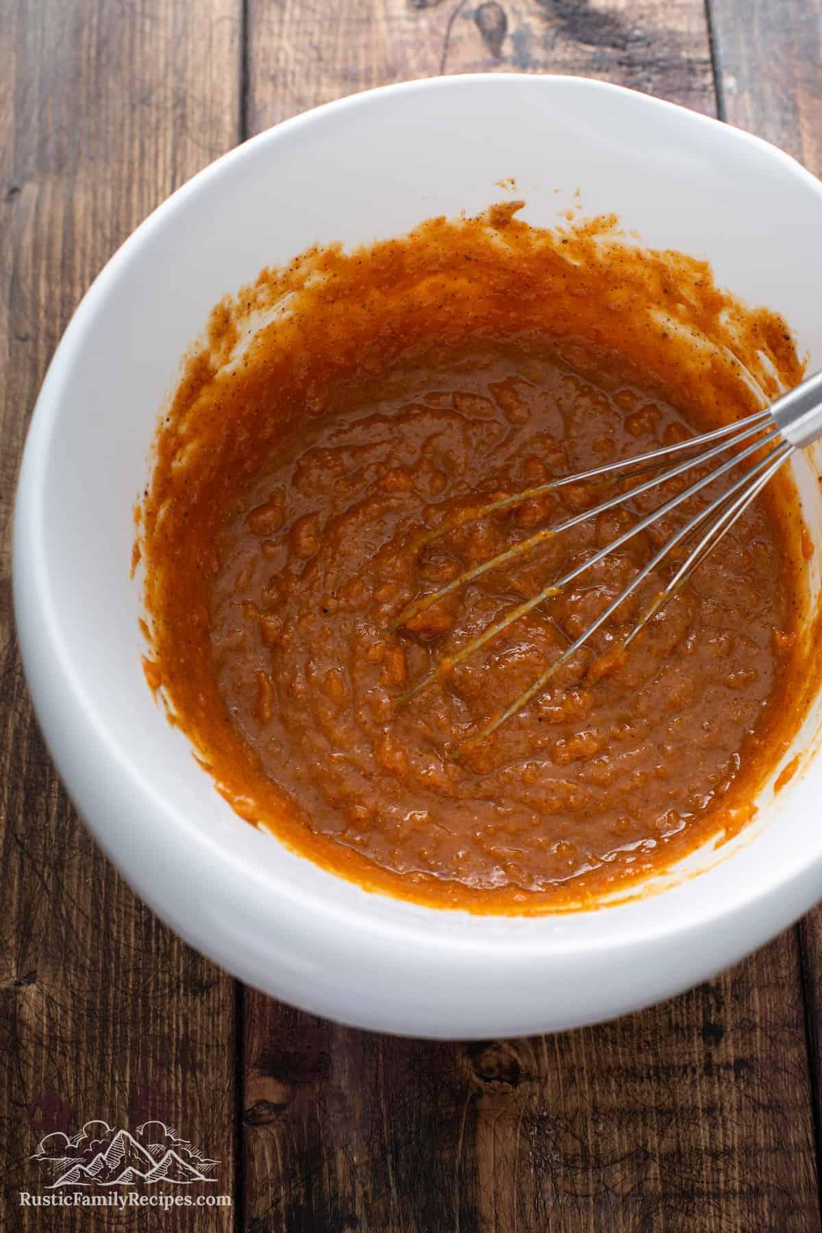 Pumpkin Sweet Potato Batter