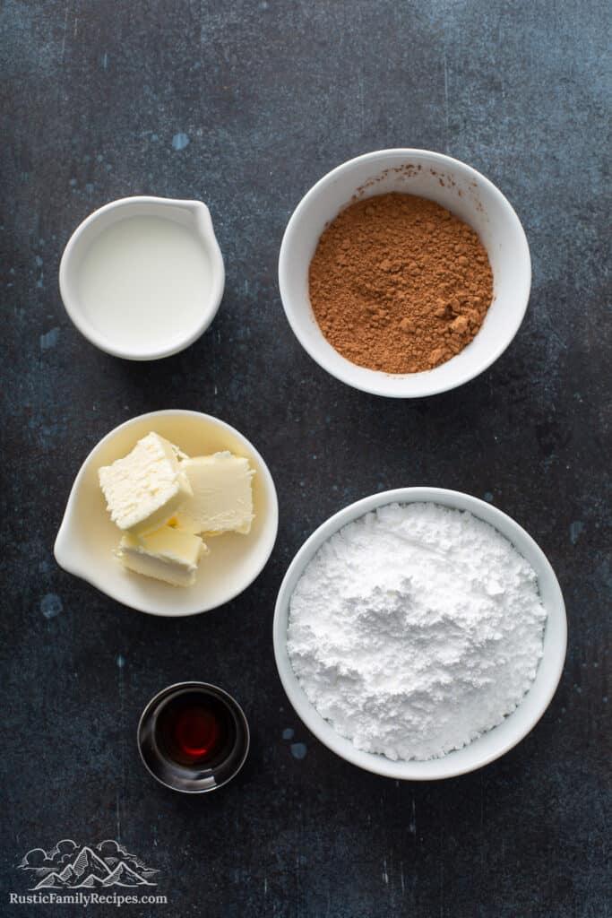 Chocolate brownie frosting ingredients
