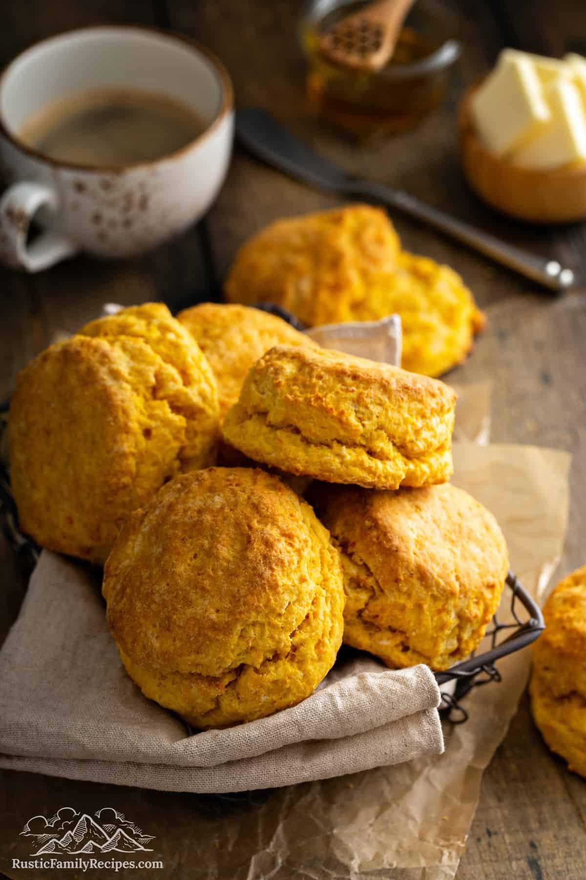 Basket of Sweet Potato Biscuits
