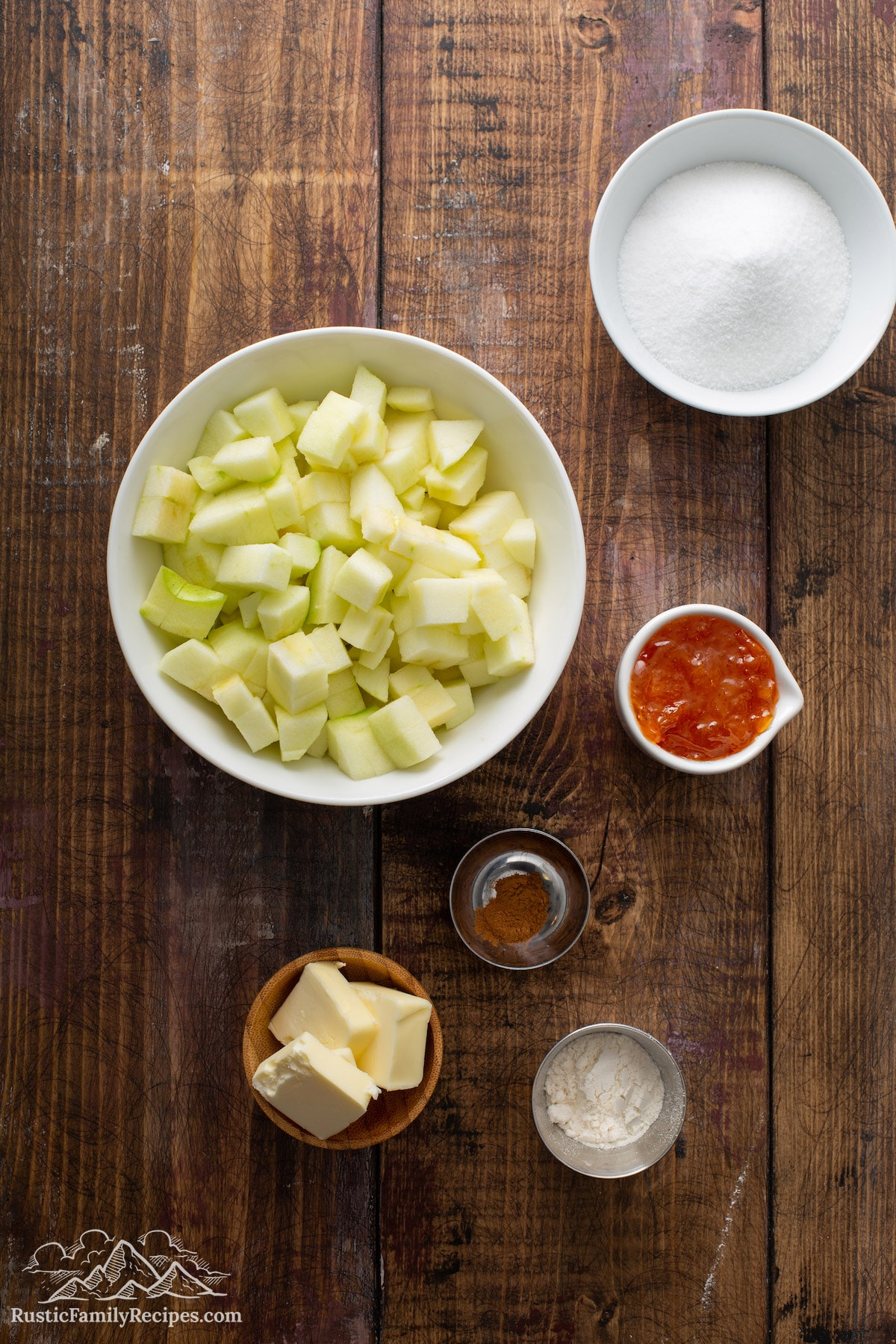 Pumpkin Apple Apricot Bread filling ingredients