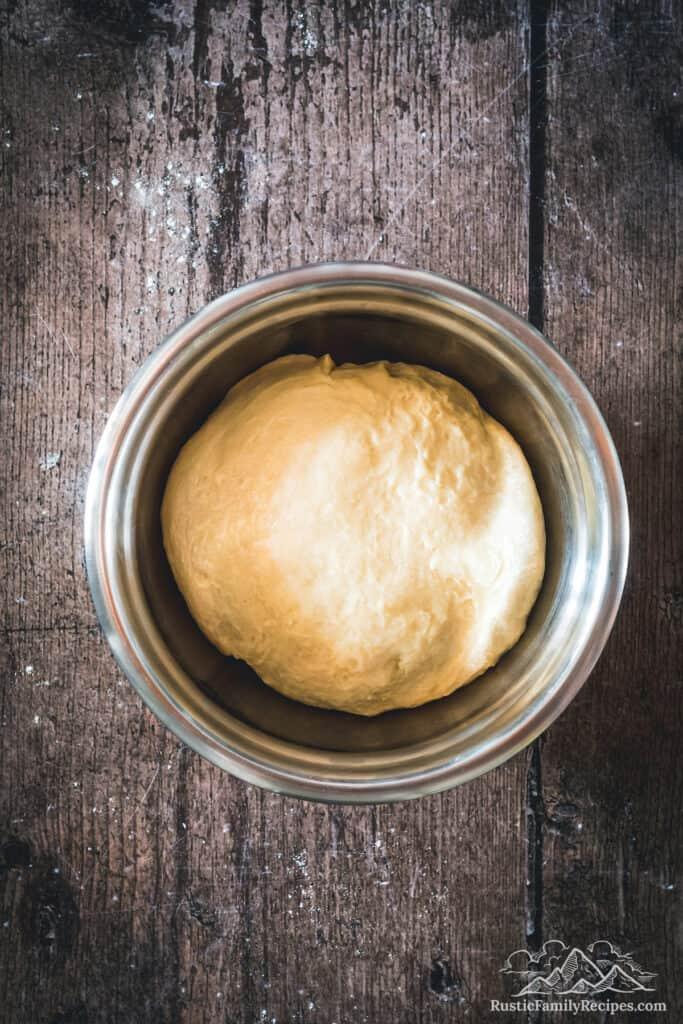 Overhead shot of Apple Harvest Bread before rising